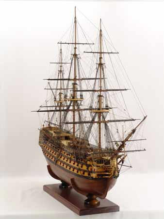 Ship model HMS Victory, flagship of Admiral Nelson 1805 at Trafalgar